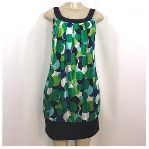 Iz Byer Multi-Color Geometric Mini Dress Medium